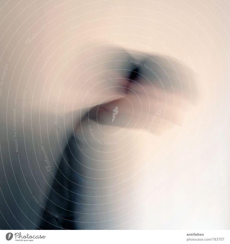 Christoph 2.0 Mensch maskulin Mann Erwachsene Haare & Frisuren 1 Pullover schwarzhaarig Bewegung gehen Tanzen gruselig Geschwindigkeit trist grau weiß Neugier