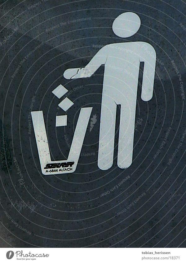 tonne Fass Müll Ernährung Mensch Schilder & Markierungen