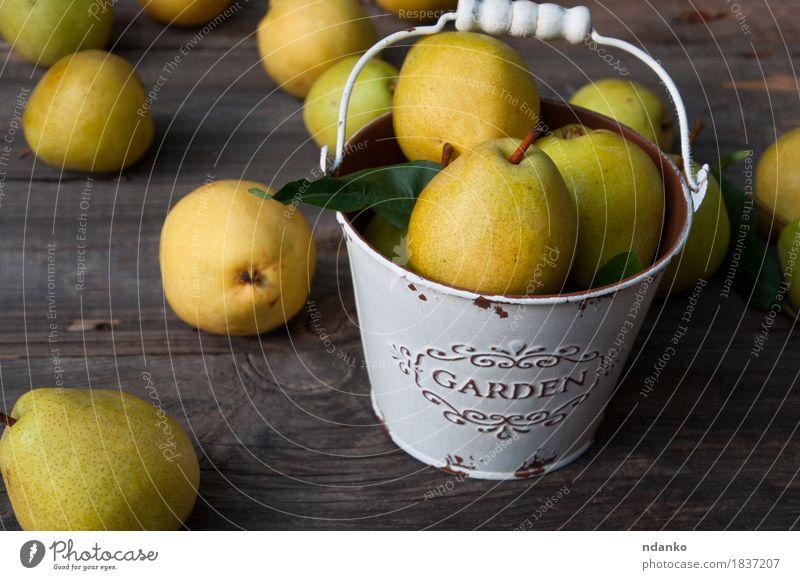 Natur alt Farbe Sommer grün gelb Herbst natürlich Holz Lebensmittel grau Frucht Ernährung frisch retro Tisch