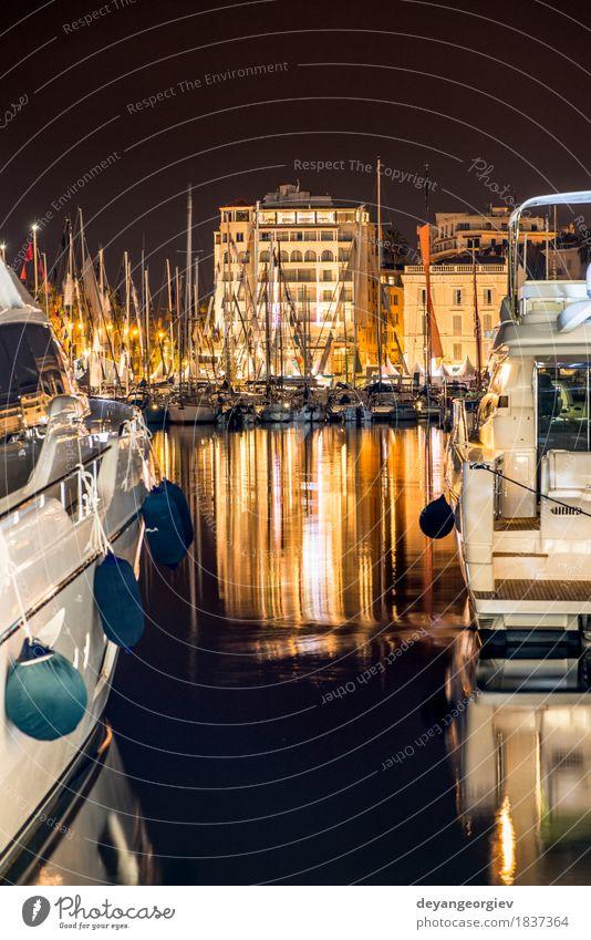 Himmel Ferien & Urlaub & Reisen Stadt Meer Landschaft Küste Gebäude Wasserfahrzeug Idylle erleuchten Frankreich Segeln Kleinstadt Jacht Regatta