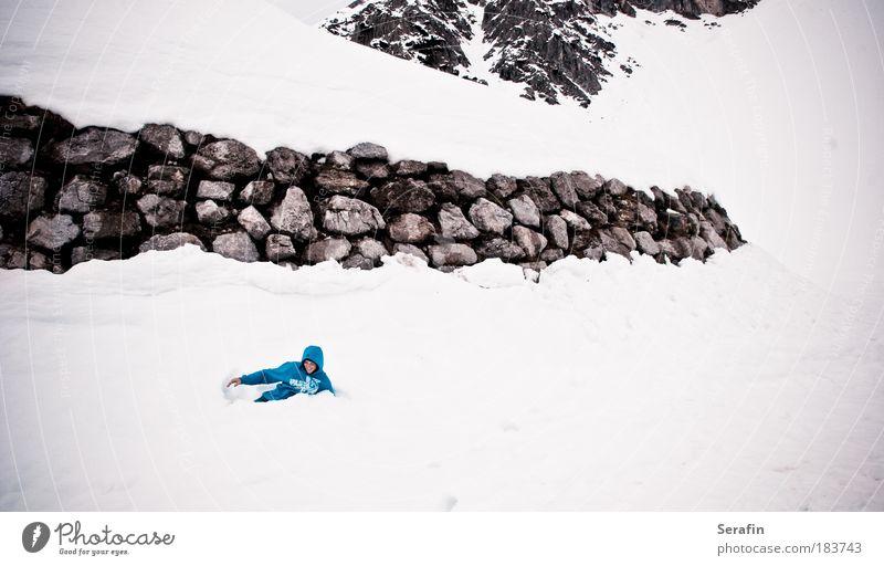 snow-bouncing weiß blau Freude Winter schwarz Schnee springen Spielen Stil Berge u. Gebirge Freiheit Design Ausflug Abenteuer Tourismus