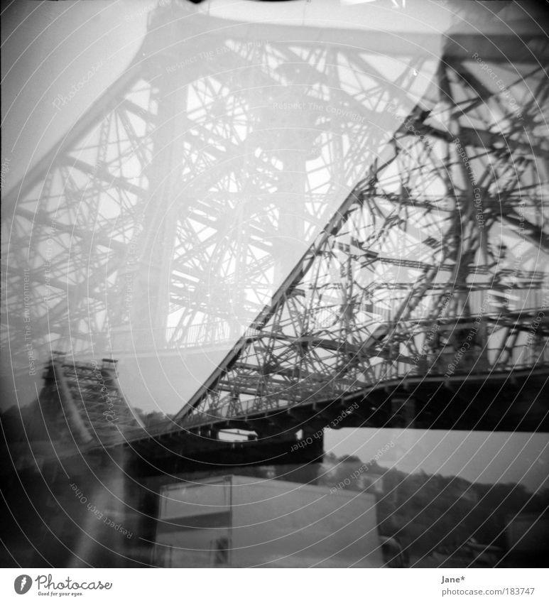 ein wunder Stadt Sommer Straße Regen Landschaft Küste Architektur Deutschland Straßenverkehr Sachsen Brücke trist Lomografie Dresden Bauwerk