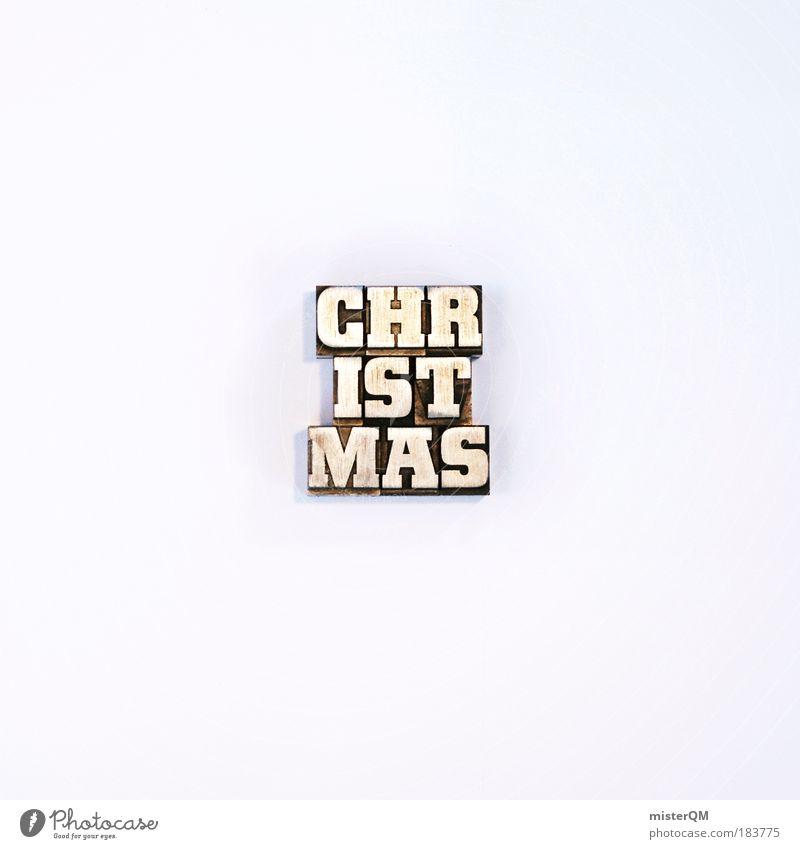 Writing Letters - Christparts Weihnachten & Advent weiß Winter kalt außergewöhnlich Design modern ästhetisch Schriftzeichen verrückt Kreativität Freisteller