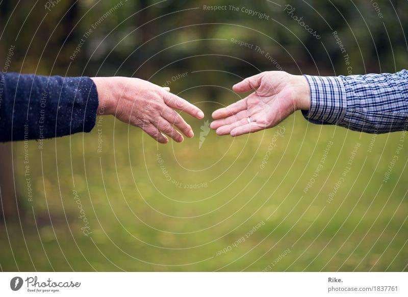 Zuwendung. Mensch maskulin feminin Eltern Erwachsene Geschwister Familie & Verwandtschaft Freundschaft Paar Partner Leben Hand 2 Gefühle Stimmung Vertrauen