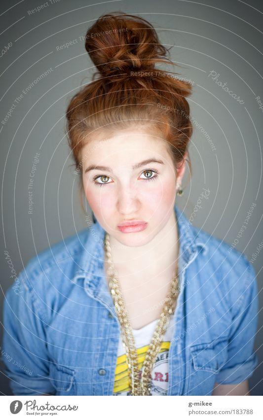 .Nele Jugendliche schön Porträt Gesicht Frau feminin Stil Haare & Frisuren Kopf Mensch Zufriedenheit hell Kraft Mode Design