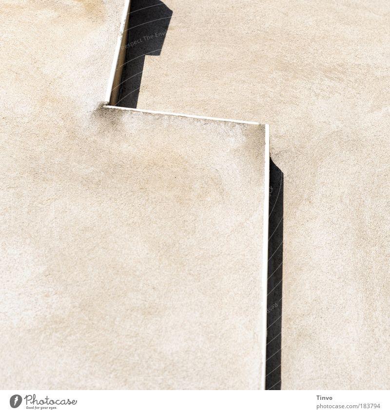 Vorsprung Wand Mauer hell Fassade Treppe Beton Ecke entdecken graphisch Putz Naher und Mittlerer Osten Asien Schatten Ost-Jerusalem Ebenmäßigkeit Klagemauer
