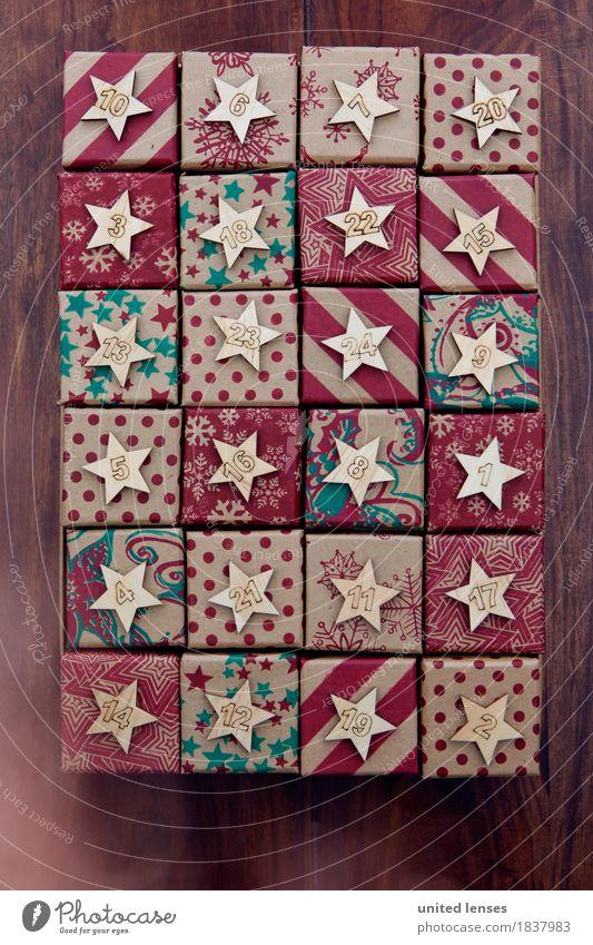 AKCGDR# Geschenke III Kunst Kunstwerk ästhetisch viele Bescherung Weihnachten & Advent Postkarte Vorfreude Farbfoto mehrfarbig Innenaufnahme Studioaufnahme