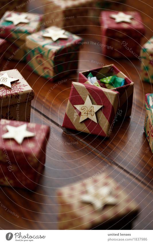 AKCGDR# Bescherung I Kunst Kunstwerk ästhetisch Weihnachten & Advent 24 Geschenk Konsum Paket viele Farbfoto mehrfarbig Innenaufnahme Studioaufnahme Nahaufnahme