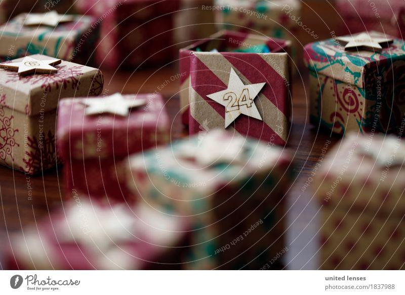 AKCGDR# Bescherung II Kunst Kunstwerk ästhetisch Geschenk Paket 24 Weihnachten & Advent Stern viele mehrfarbig Farbfoto Innenaufnahme Studioaufnahme Nahaufnahme