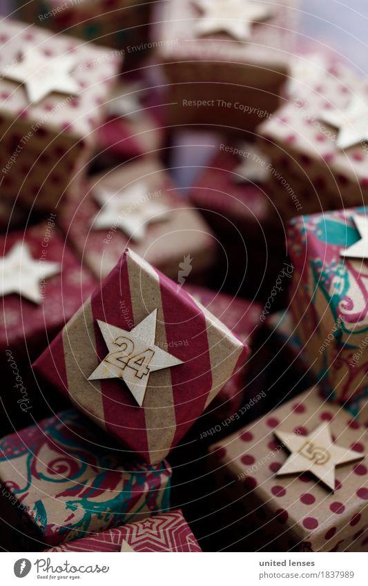 AKCGDR# Bescherung III Kunst Kunstwerk ästhetisch Geschenk Paket viele 24 Weihnachten & Advent aufeinander Stapel Kalender Farbfoto mehrfarbig Innenaufnahme