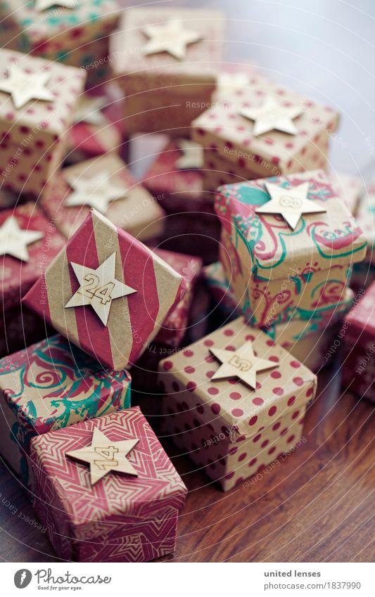 AKCGDR# Bescherung V Kunst Kunstwerk ästhetisch Geschenk Paket viele 24 Kalender Weihnachten & Advent Stapel Farbfoto mehrfarbig Innenaufnahme Studioaufnahme