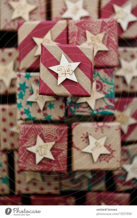 AKCGDR# Bescherung VII Kunst Kunstwerk ästhetisch Geschenk Paket 24 Kalender Stapel viele Weihnachten & Advent Farbfoto mehrfarbig Innenaufnahme Studioaufnahme