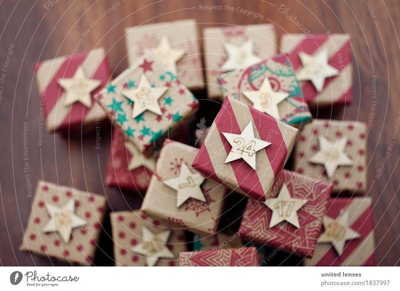 AKCGDR# Bescherung IX Weihnachten & Advent Kunst ästhetisch Geschenk viele Kalender Kunstwerk Stapel Paket 24 Adventskalender Bescherung
