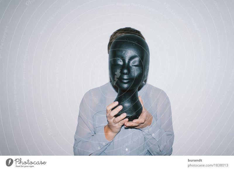gesichtslos Mensch Frau Jugendliche schön Junge Frau Hand 18-30 Jahre schwarz Erwachsene feminin Kopf zeigen Model Skulptur Identität Puppe