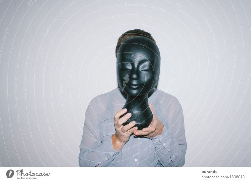 gesichtslos schön feminin Junge Frau Jugendliche Kopf Oberkörper Hand 1 Mensch 18-30 Jahre Erwachsene Bluse Sammlerstück Styropor Styroporkopf Model Nachbildung