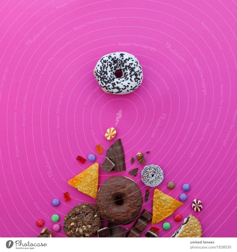 AK# Dickmacher Kunst Kunstwerk ästhetisch ungesund Ernährung Kalorienreich Krapfen Kartoffelchips knallig Fastfood Bonbon Schokolade Schokoladenstreusel