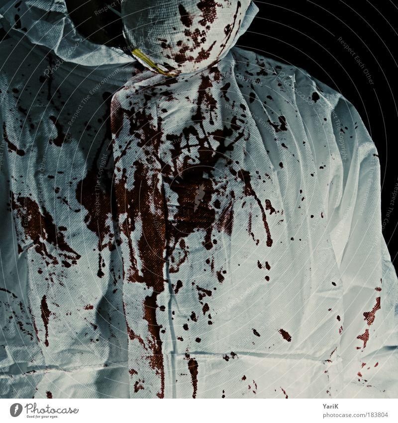@ work rot schwarz dunkel Arbeit & Erwerbstätigkeit Angst dreckig Schutz Farbfoto Schatten Maske Vergänglichkeit geheimnisvoll Gewalt verstecken Blut Ekel