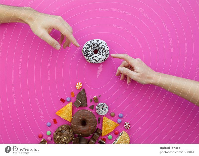 AKCGDR# Sweet Lord Kunst Kunstwerk Gemälde ästhetisch himmlisch Momentaufnahme Krapfen Mensch paranormal Schokolade ungesund lecker Appetit & Hunger viele