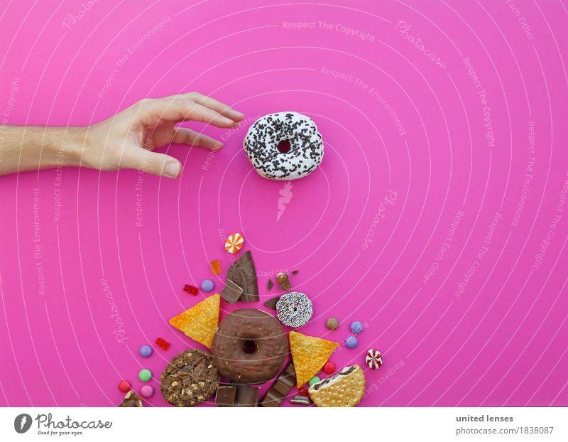 AKCG# Meiner Mann Hand Kunst rosa ästhetisch Finger Süßwaren Schokolade Diät Bonbon Kunstwerk greifen Krapfen Gier Gummibärchen Schokolinsen