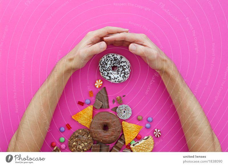 AKCG# Meine! Hand Lebensmittel rosa Ernährung ästhetisch Kreativität Arme lecker Süßwaren Dessert Appetit & Hunger fangen Schokolade Vegetarische Ernährung Diät