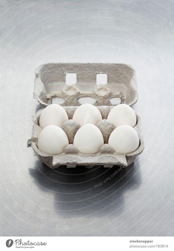 Verpackung Lebensmittel offen Ei Karton Schachtel Paket Zutaten aufgeklappt
