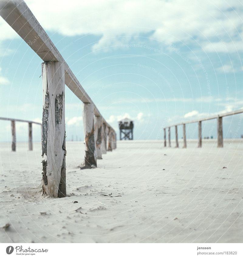 183820 Natur Himmel blau schön Sommer Strand Meer ruhig Wolken Einsamkeit Ferne Erholung Holz Sand Wärme Stimmung