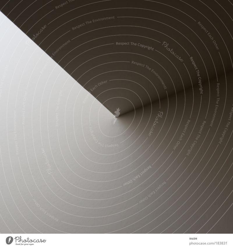 Sonnenuhr Stil Design Kunst Architektur Mauer Wand Fassade Stein Schriftzeichen Linie Pfeil eckig einfach modern verrückt grau weiß Grafik u. Illustration