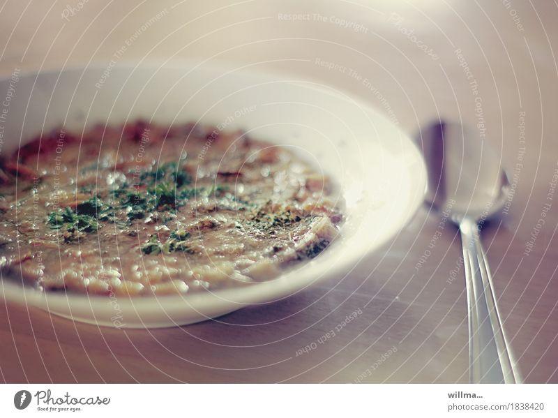 erzgebirgische Brotsuppe Gesunde Ernährung lecker Teller Abendessen Vegetarische Ernährung Mittagessen Löffel Suppe Majoran