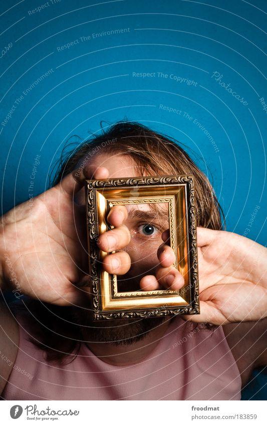 rahmenbedingungen Mensch Mann Porträt Jugendliche blau Auge Gesicht Kunst blond Erwachsene Bart Hand maskulin Finger Sicherheit