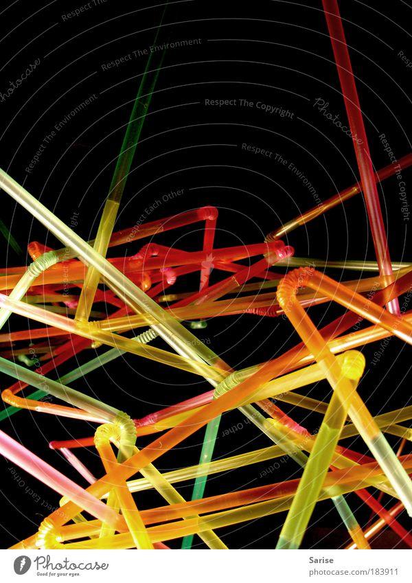 So lange ich denken kann... Leben Spielen Linie mehrfarbig verrückt planen einzigartig Dekoration & Verzierung außergewöhnlich Netz Unendlichkeit Neugier Licht Kunststoff Farbfoto