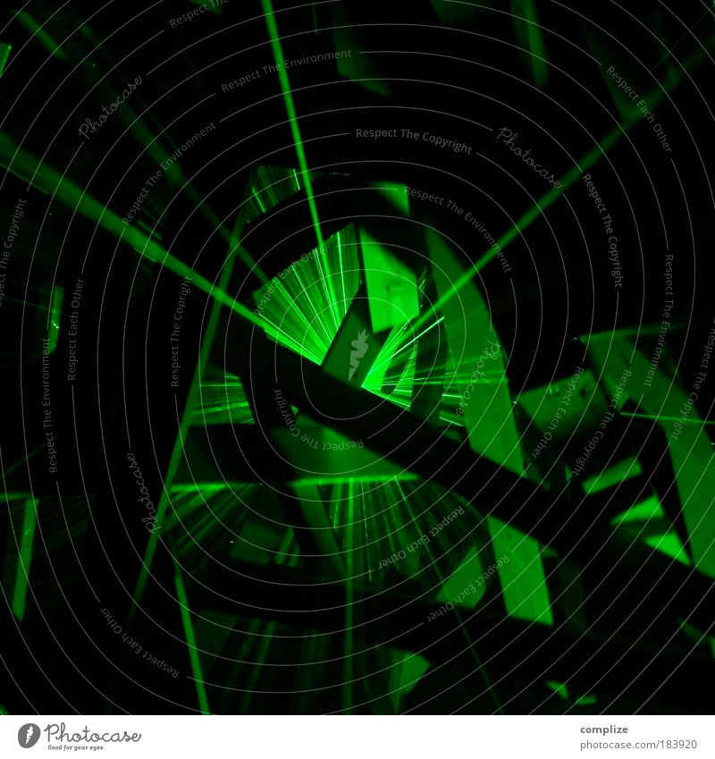 laser Farbfoto Innenaufnahme Experiment abstrakt Textfreiraum oben Textfreiraum unten Reflexion & Spiegelung Lichterscheinung Nachtleben Veranstaltung