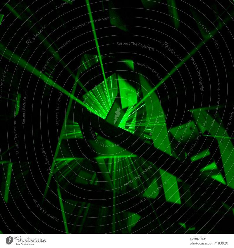 laser grün Party Feste & Feiern abstrakt Technik & Technologie Zukunft einzigartig Club Rauch Veranstaltung Diskjockey Experiment Laser Nachtleben ausgehen Lasershow
