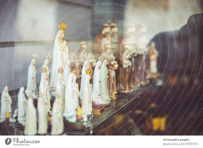 Glaube, Liebe, Hoffnung Religion & Glaube feminin Holz Kunst Kitsch Sammlung Skulptur Figur Maria Krimskrams Schnitzereien