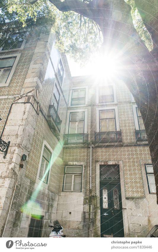 Woanders scheint die Sonne Ferien & Urlaub & Reisen alt Sommer Stadt Haus Architektur Wand Gebäude Mauer Fassade hell Häusliches Leben historisch Hauptstadt