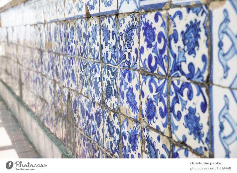 Azulejos alt Stadt Wand Mauer Fassade historisch Hauptstadt Stadtzentrum Fliesen u. Kacheln Portugal Ornament Lissabon typisch ornamental