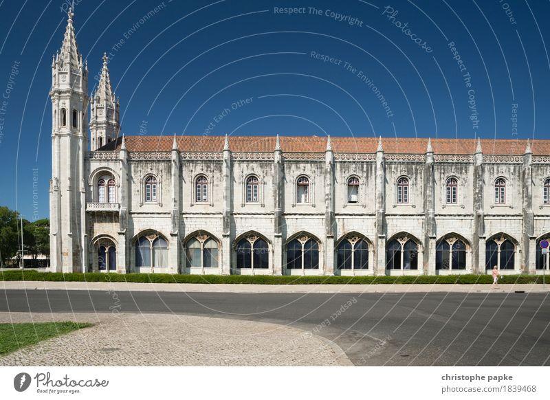 Mosteiro dos Jerónimos / Lissabon II Ferien & Urlaub & Reisen alt Sommer Stadt Straße Architektur Gebäude Tourismus historisch Bauwerk Sehenswürdigkeit