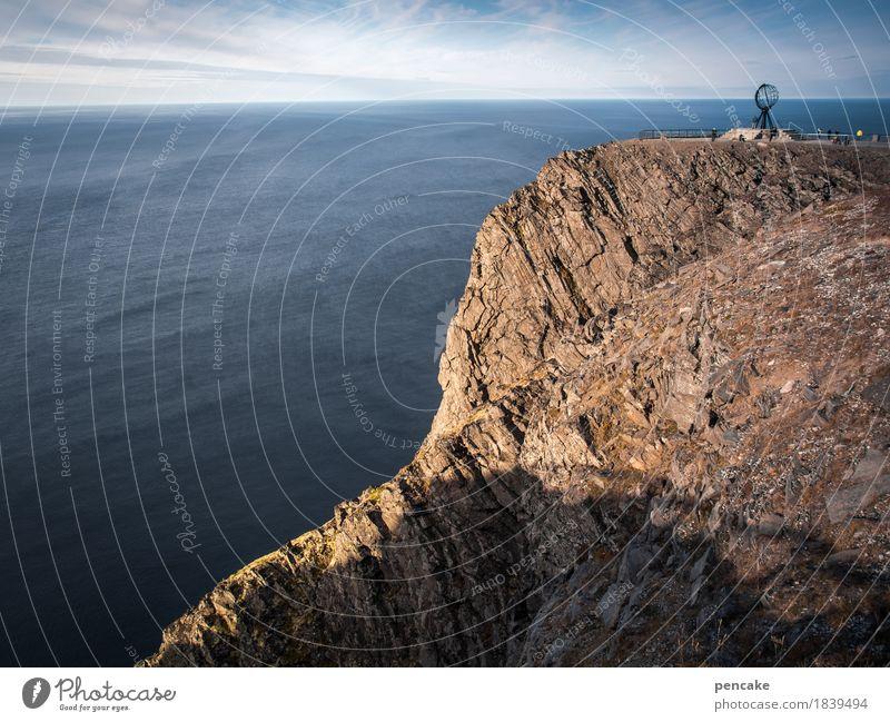 kein sonntagsausflug Himmel Ferien & Urlaub & Reisen Wasser Meer Landschaft Ferne Herbst Erde Felsen Tourismus Horizont Ausflug Aussicht Schönes Wetter Zeichen