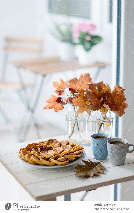 für zwei Erholung ruhig Freude Leben Herbst Lifestyle Lebensmittel Zufriedenheit Ernährung elegant Geburtstag genießen süß Pause Getränk Kaffee