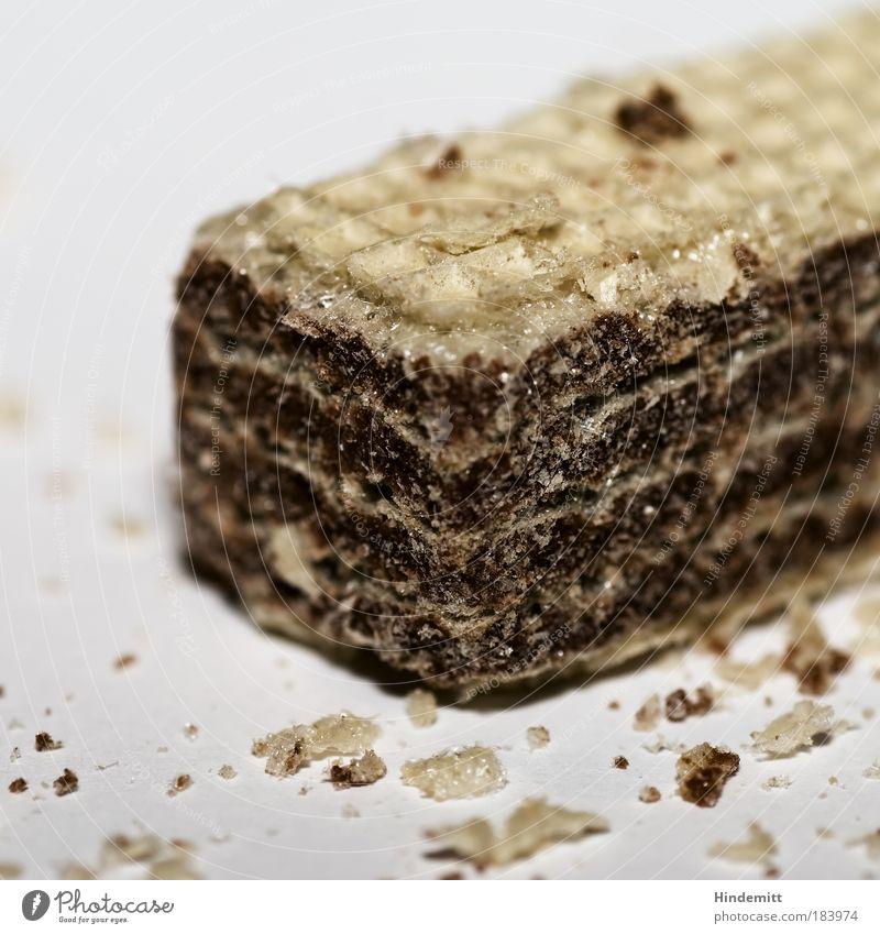 ... mag man eben! weiß hell braun Lebensmittel süß Ernährung lecker Süßwaren trocken Schokolade Zucker hart Keks eckig Snack bescheiden