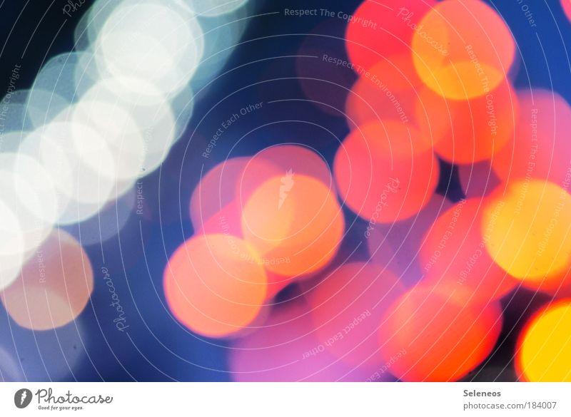 komm ins Licht rot Straße Kunst glänzend Umwelt Verkehr Reflexion & Spiegelung mehrfarbig Stil leuchten Verkehrswege bizarr Autofahren chaotisch Surrealismus Nacht