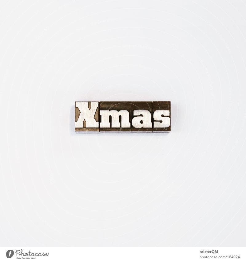 Writing Letters - Xmas Weihnachten & Advent weiß Winter schwarz außergewöhnlich Feste & Feiern Design modern ästhetisch Schriftzeichen verrückt Kreativität