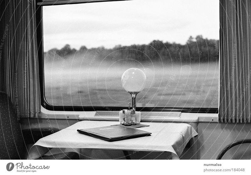 601, auf Reisen im CZ Express Schwarzweißfoto Menschenleer Dämmerung Ernährung Speisekarte salzsteuer Ausflug Ferne Freiheit Bahnfahren Lampe Kunst Umwelt Natur