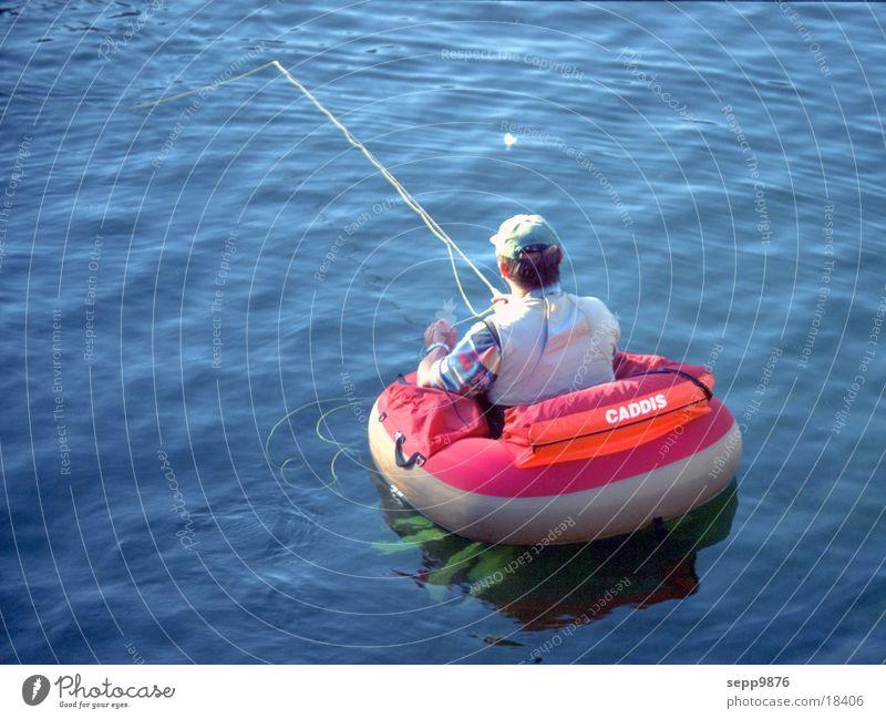 Fishing Mann Fluss Angeln Fliegenfischen