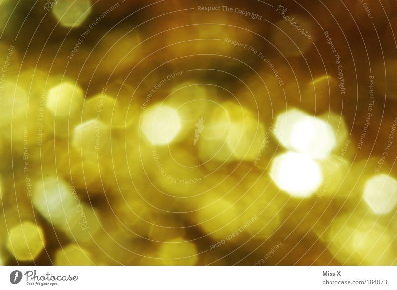 Weihnachtsglitzer schön gelb Gefühle Glück glänzend gold Gold Kreativität Punkt Feste & Feiern mehrfarbig Licht Farbenspiel Farbgestaltung
