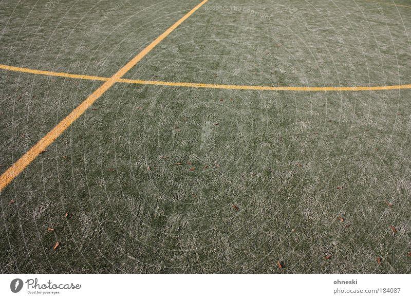 Mittellinie grün gelb Spielen Sand Freizeit & Hobby Fußball Sport-Training Fußballplatz Hockey Bodenbelag Sportstätten Kunstrasen Feldhockey
