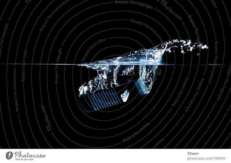 nassrasur Wasser schwarz dunkel Reaktionen u. Effekte Haare & Frisuren Stil Gesundheit elegant Design frisch ästhetisch Studioaufnahme Wassertropfen Aktion