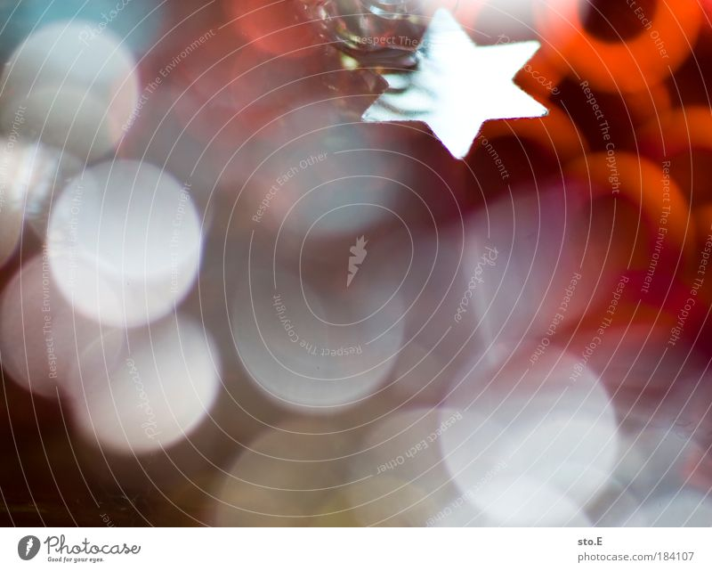 deko Weihnachten & Advent Winter Hintergrundbild Feste & Feiern Dekoration & Verzierung Stern (Symbol) Zeichen Markt Vorfreude Erwartung Licht Glitter