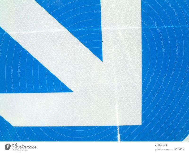 daLAng blau Schilder & Markierungen Dinge Pfeil unten rechts Verkehrsschild