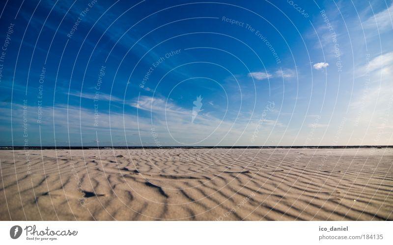 Grenzenlose Entspannung... Himmel Natur blau Wasser Meer Sommer Strand Wolken Ferne gelb Erholung Landschaft Sand Küste Horizont Europa