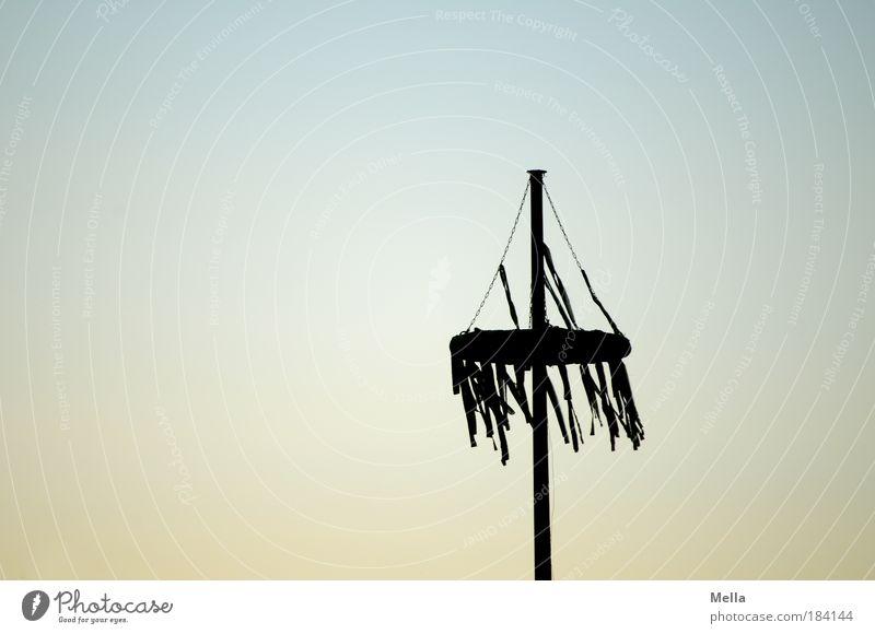 Der Mai ist gegangen Farbfoto Gedeckte Farben Außenaufnahme Menschenleer Textfreiraum links Abend Dämmerung Kontrast Silhouette Sonnenaufgang Sonnenuntergang